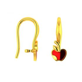 18KT Yellow Gold Kids Stud Earrings VKE-953