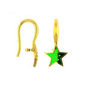 18KT Yellow Gold Kids Stud Earrings VKE-954