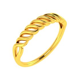 22K Twisted Rope Gold Band