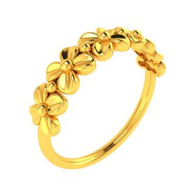 22K Flower Power Gold Band