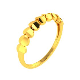 22K Sleepy Hearts Gold Band