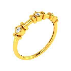 22K Beam Diamond Gold Ring
