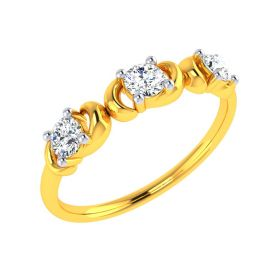 22k Sturdy Love Gold Ring