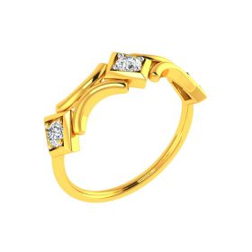 22K Bridge of Love Gold Ring