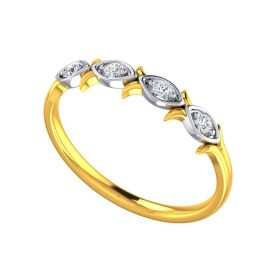Diamond Quartet Gold RIng