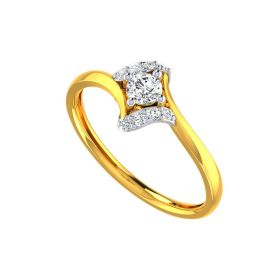 Graceful Solitaire Ring