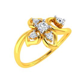 22K Bloom & Shine Gold Ring