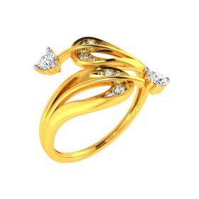 22K Diamond Comfort Ring