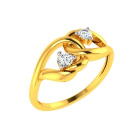22K Twirl Gold Ring