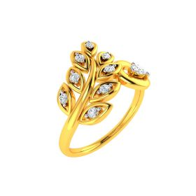22K Fine Vine Gold Ring