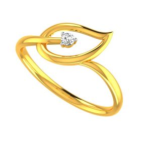 22k Lofty Leaf Gold Ring