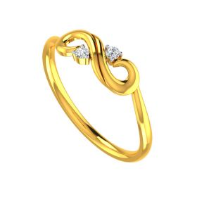 Gleaming Infinity Gold Ring