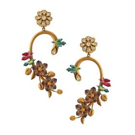 135-VG2683 | Enchanting Floral Earrings