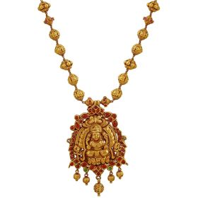 Lakshmi Ruby Gold Necklace