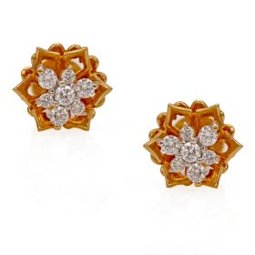 Offbeat Nakshatra Diamond Studs Earring