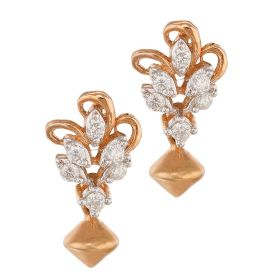 Delicate Drop Diamond Earrings