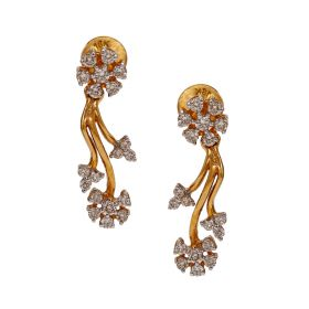 Vine Flower Diamond Earrings