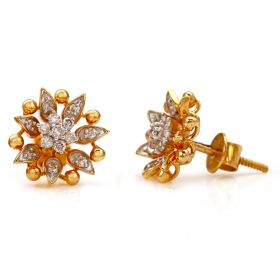 Floral Inspiration Diamond Studs Earring