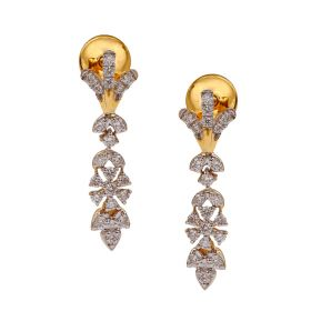 Sleek Floral Diamond Danglers