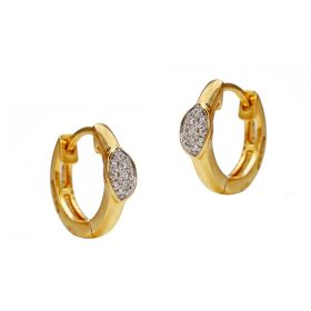 Marquise Hoop Diamond Earrings
