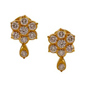158G145 | Nakshatra Drop Diamond Earrings