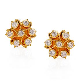 158G83 | Swirls of Gold Diamond Studs