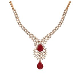 Pearl Drop Diamond Necklace
