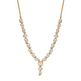 Enticing Paisely Diamond Necklace