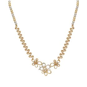 Dazzling Flower Cluster Diamond Necklace