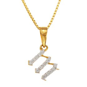 Magical M Diamond Pendant