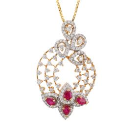 166G994 | Floral Splash Diamond Pendant