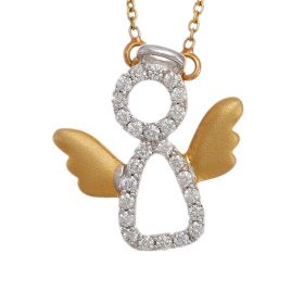 Guardian Angel Diamond Pendant