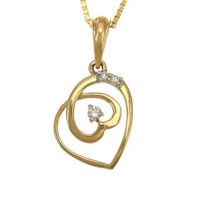 166VG2894 | Sweetheart Diamond Pendant