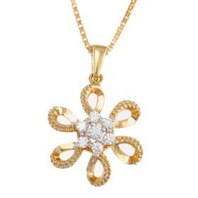 166VG2938 | Celtic Flower Diamond Pendant