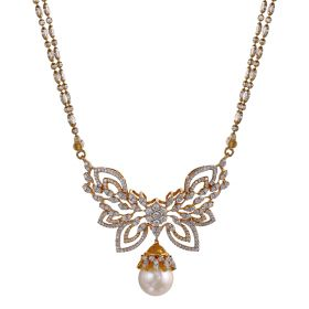 Butterfly Pearl Diamond Mangalsutra