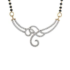 BBC Diamond Mangalsuthra Locket