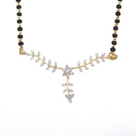 Enticing Floral Diamond Mangalsutra