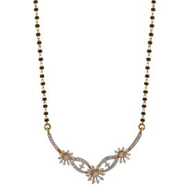 170VG1794 | Floral Strokes Diamond Mangalsutra