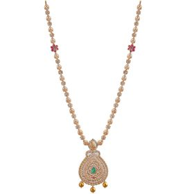 118VG185 | Antique Gemstone Precious Polki Gold Necklace