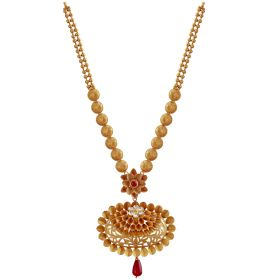 Versatile Floral Gold Necklace