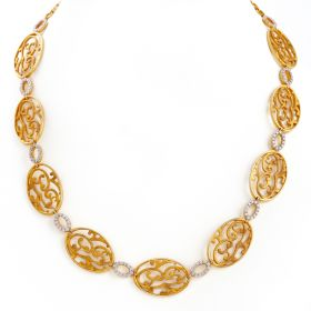 159G206 | Swirl Diamond Necklace