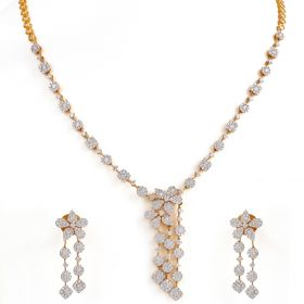 159MA15 | Silhouette Diamond Necklace set