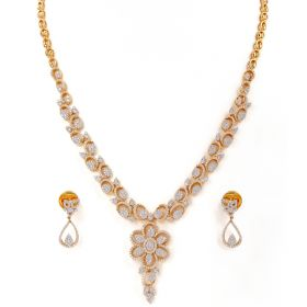 159MA81 | Enigmatic Dazzler Diamond Necklace Set