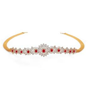 Radiant Ruby Diamond Vaddanam