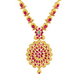 111MP2158 | Scarlet Charm Ruby Gold Necklace