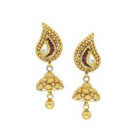 135VG2972 | Antique Gold Paisley Drop Earrings