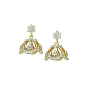 155VG6033 | Signity Mini Gold Jhumka Earrings
