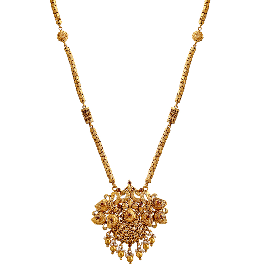 Elegant Peacock Gold Necklace