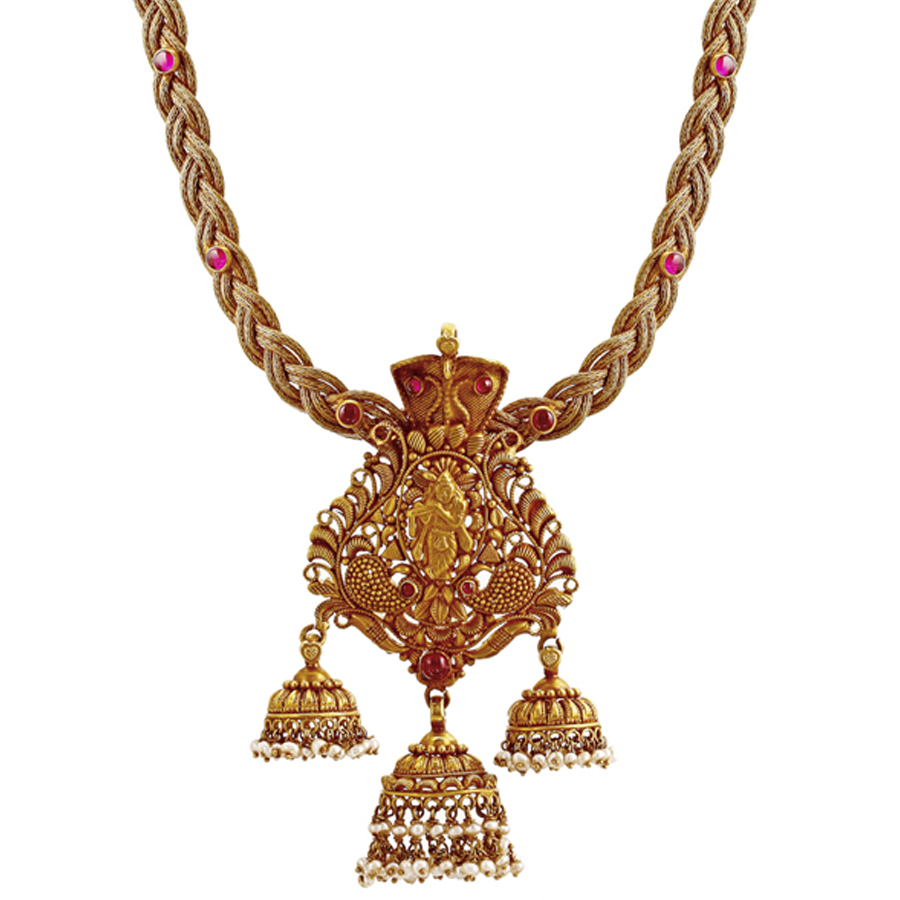 Lord Krishna Gold Necklace_2