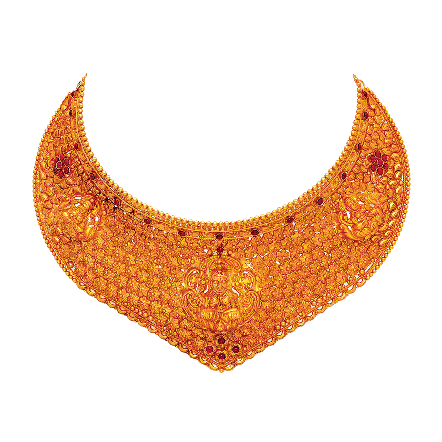 Antique Heritage Fusion Gold Choker_1